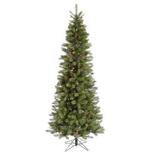 Vickerman 21772 - 6.5' x 34 Albany Spruce Slim 300 Multi-Color Italian LED Lights Christmas Tree (A114067LED)