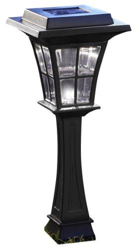 Moonrays 91750 Walker Style Solar Light, Plastic Path Light, LED is 6X-Brighter, Black, 2-Pack