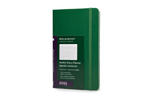 Moleskine 2015 Weekly Planner, Horizontal, 12 Month, Large, Oxide Green, Hard Cover (5 x 8.25)