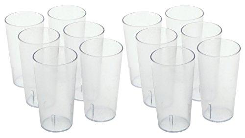 Winco (12 Pack) 16 oz. Clear Plastic Tumbler / Stackable Restaurant Beverage cup *Break-Resistant*