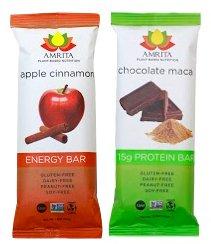 Amrita Energy Bars 24 Pack: Apple Cinnamon + Chocolate Maca