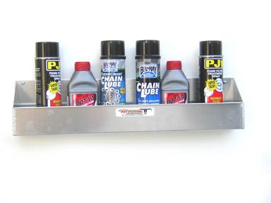 Pit Posse 567 Aerosol Shelf 8 Mount Silver Aluminum Cabinet Shop Garage Enclosed Race Car Nhra Trailer Accessory