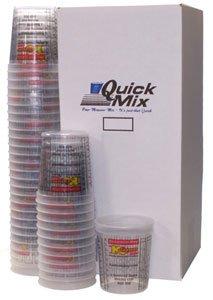 Custom Shop 980-BX Graduated Paint Mixing Buckets 2-1/2 Quart MIX CUPS - BOX OF 100