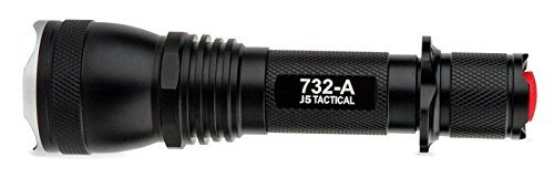 J5 Tactical 732A Flashlight - The Original 1000 Lumen Ultra Bright, LED Mini 5 Mode Flashlight