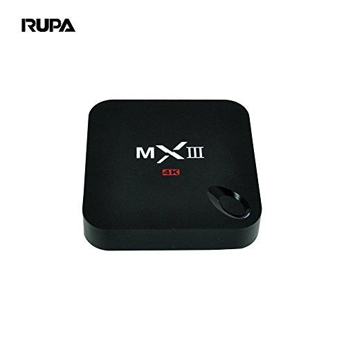 RUPA MXIII Android TV Box Amlogic S812 Quad Core 2GB RAM 8GB Flash Kodi(xbmc) Fully Loaded HD 1080P Smart OTT Box Streaming Media Player Set Top Box