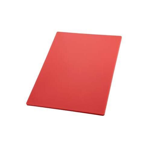 Winco CBRD-1824 Cutting Board, 18-Inch by 24-Inch by 1/2-Inch, Red