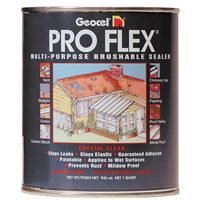 Geocel 22200 Pro Flex Multi-Purpose Brushable Repair Coating, 1 qt Can, Crystal Clear