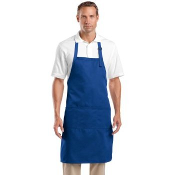 Cornerstone Adjustable Three Pockets Bib Apron_Royal_One Size