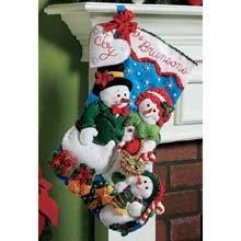 Bucilla 18-Inch Christmas Stocking Felt Applique Kit, 86141 Our Family