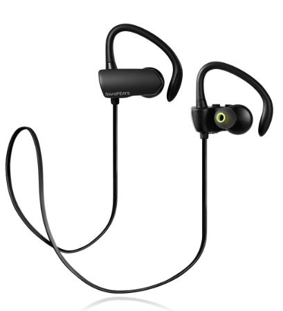SoundPEATS Bluetooth Headphones Sport Wireless Earbuds Stereo Earphones with Mic (Bluetooth 4.1, aptx, Secure Ear Hooks Design, 6 Hours Play Time, Upgraded Version) - Q9A +