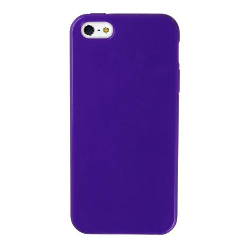 Cruzerlite High Gloss TPU Case for iPhone 5 - Retail Packaging - Purple