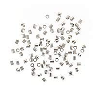 Sterling Silver Crimp Beads 2 x 2mm (100)