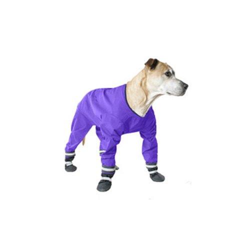Muttluks Four Legged Dog Jog Rainsuit, Size 16, Purple