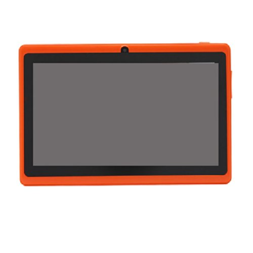 iRulu 7 inch Android Tablet PC, 4.2 Jelly Bean OS, Dual Core, Allwinner A23 CPU, Dual Cameras, 5 Point Capacitive Touch Screen, 16GB Storage, Orange Color