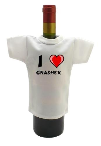 Wine Bottle T-Shirt with I Love Gnasher