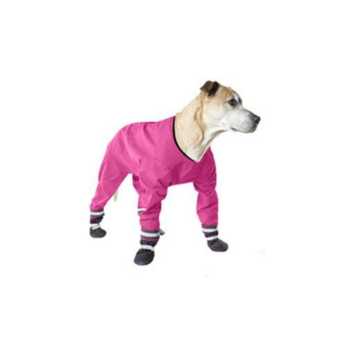 Muttluks Four Legged Dog Jog Rainsuit, Size 14, Pink