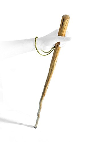 SE WS632-55 Heavyweight Natural Wood Walking Stick with Steel Spike & Metal-Reinforced Tip Cover, 55