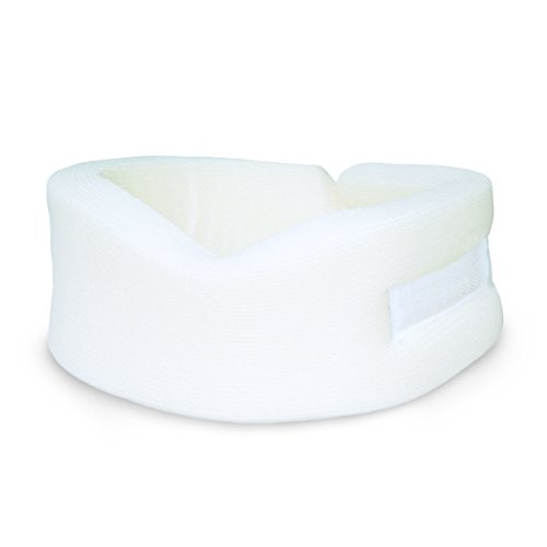 AZMED Soft and Adjustable Cervical Protector Collar For Neck Pain, One Size, White