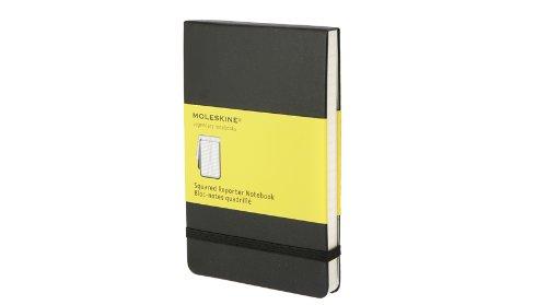 Moleskine Reporter Notebook, Pocket, Squared, Black, Hard Cover (3.5 x 5.5)