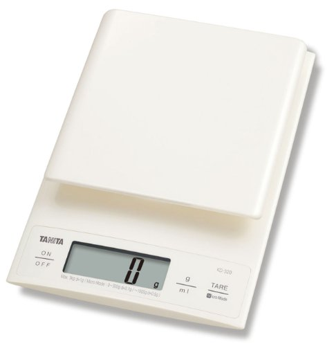 Tanita KD320WH33 Kitchen Scales 3 kg with 0.1 g Fine Increments