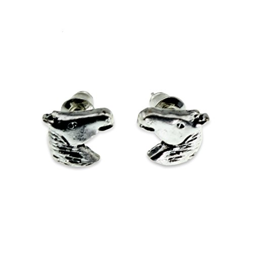 Horse Head Fashion Statement Jewelry Silver Casual Earring for Women Teen Little Girl Crazy Lover Gift