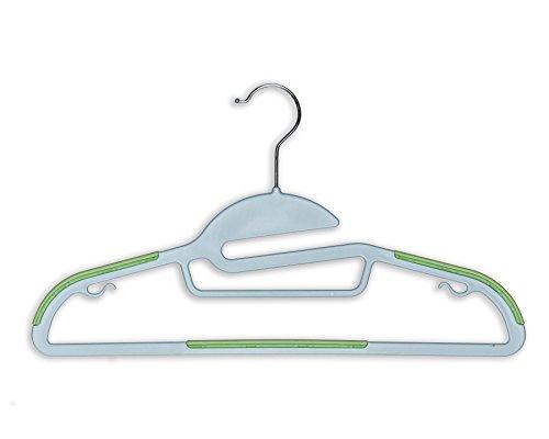 BriaUSA Dry Wet Amphibious Hanger Set of 10 Light Green non-slip Shoulder Design Steel Swivel Hooks
