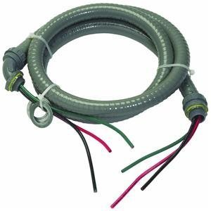 Southwire 55189407 1/2-Inch 6-Feet 10/3 ULTRA Whip-Pre-Assembled Non-Metallic Liquid tight Hook-Up Whip