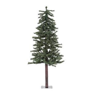 Vickerman Natural Alpine Tree-Unlit, 4-Feet, Green
