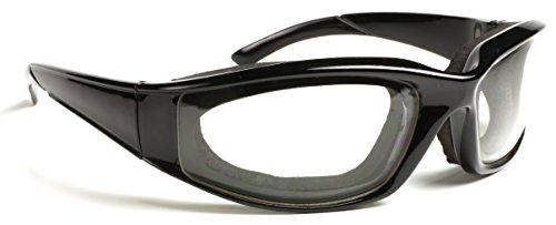 SugarFox Onion Goggles - Tear Resistant Airtight Professional Grade - Black