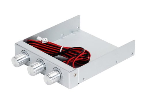 SilverStone FP33S Aluminum 3.5-Inch Drive Bay/Expansion Slot with Independent Fan Controllers (Silver)