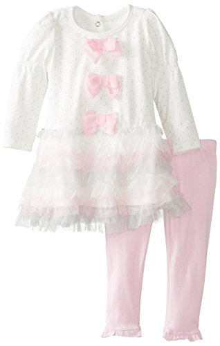 Nannette Baby Girls' 2 Piece Tiered Dress Set