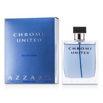 Azzaro Chrome United Eau de Toilette Spray, 3.4 Ounce