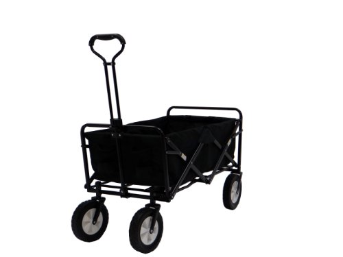 Portable Folding Utility Wagon in Black