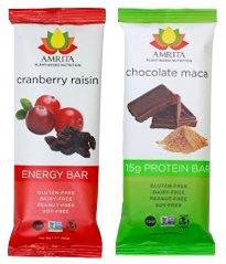 Amrita Protein Nutrition Bars, Cranberry Raisin + Chocolate Maca, 24 pack