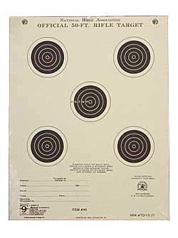 Hoppe's No. 9 Official Competition 50-Feet, 5-Bulls Target Paper (20 Pack)