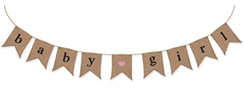 Baby Girl Burlap Banner - Baby Shower Decorations For Girl - Gender Reveal Party