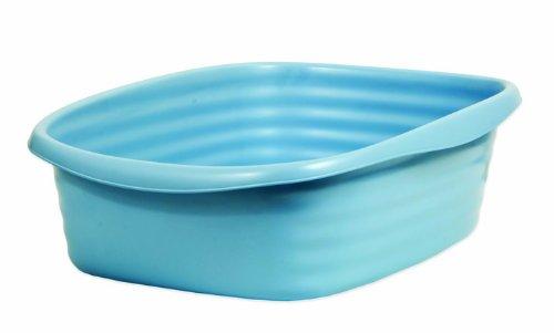 Arm & Hammer 22193 Cat Pan/Litter Box, Large, Pearl Ash Blue
