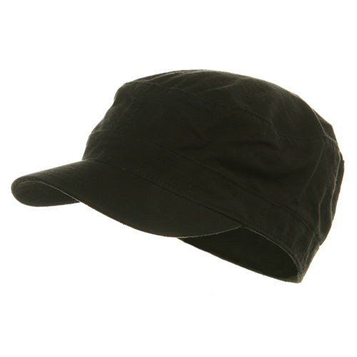 Fitted Cotton Ripstop Army Cap-Black S-M