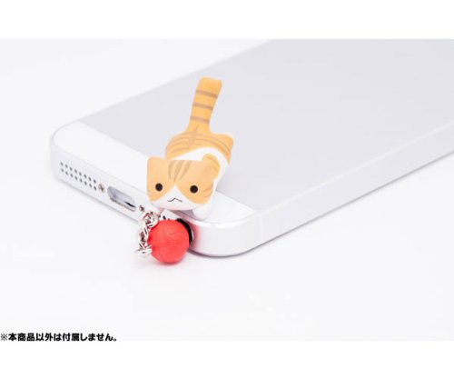 Niconico Nekomura Cat Earphone Jack Plug Accessory Catching Ball Edition (Tora)