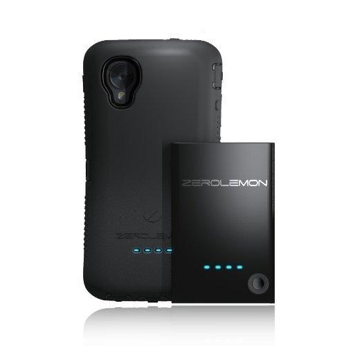 [180 Day Warranty] Zerolemon LG Google Nexus 5 3500mah Extended Battery + Zeroshock Black/black Dual Layer Rugged Case + Screen Protector + Holster/kickstand - World's Highest Capacity Nexus 5 Battery