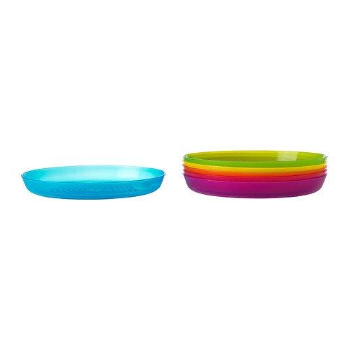 Ikea Kalas 501.929.59 BPA-Free Plate, Assorted Colors, Set of 2, 6-Pack