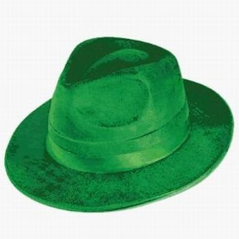 Green Vel-Felt Fedora Party Accessory (1 count) (1/Pkg)