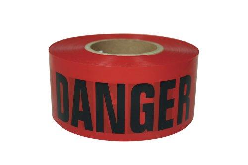 91899 Danger Barricade Ribbon 3-Inches x 1000-Feet, 1.7-Mil