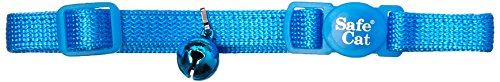 Coastal Pet Products CCP7001BLL Nylon Safe Cat Adjustable Breakaway Collar with Bells, Blue Lagoon