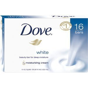 Dove Bar Soap, White, 4 Oz, 16 Count