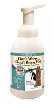 Don't Worry Don't Rinse Me! Rinseless Waterless Foam Shampoo for Dogs & Cats Ark Naturals 18 oz Liquid
