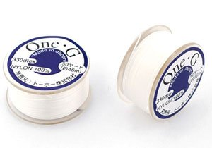 Toho One-g Nylon Thread White 50 Yards by UnCommon Artistry®