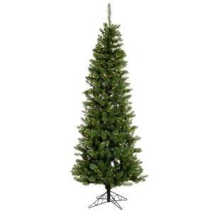 Vickerman Salem Pencil Pine Tree with Dura-Lit 150 Clear Lights, 4.5-Feet by 24-Inch