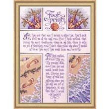 Bucilla 42760 Footprints Counted Cross Stitch Kit, 10-1/2 -Inch by 14.25-Inch