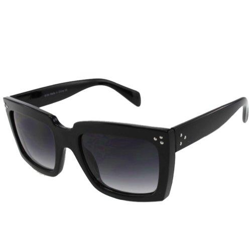 BIRCH's Modern Retro Chic Oversized Thick Bold Frame Wayfarer Fashion Sunglasses